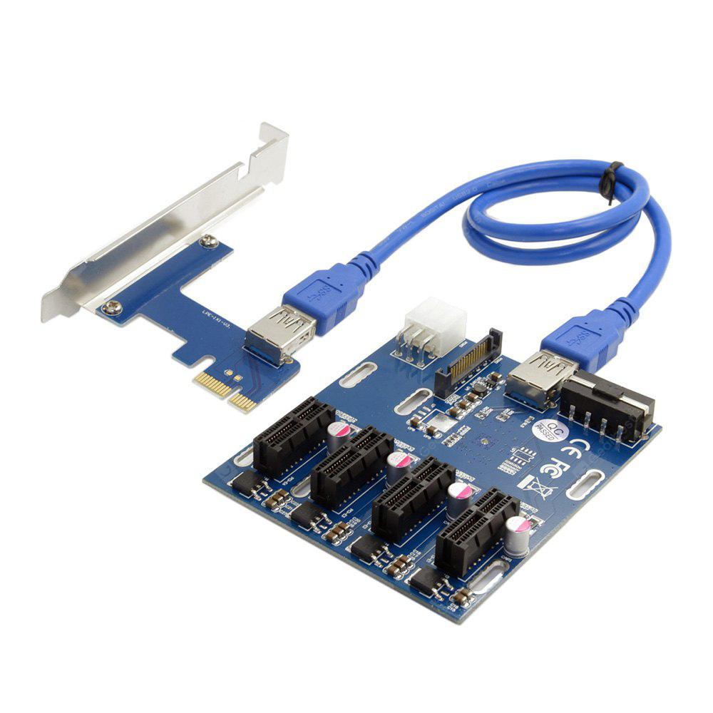 CY EP - 105 PCI-E Express 1x to 4 Port Switch Multiplier