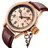 MG.ORKINA W007 Genuine Leather Band Men Watch - BROWN