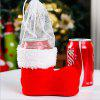 Home Decor Boots Pattern Ornaments Wine Bottle Cover - RED
