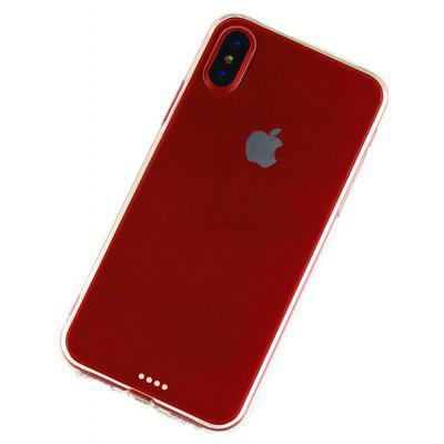 Slim TPU PC Phone Case for iPhone X Dust Plug Mobile Cover