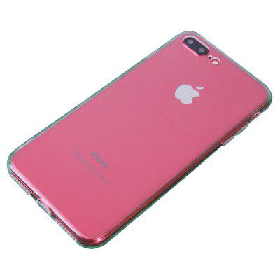 Slim TPU PC Phone Case for iPhone 7 Plus Dust Plug Cover