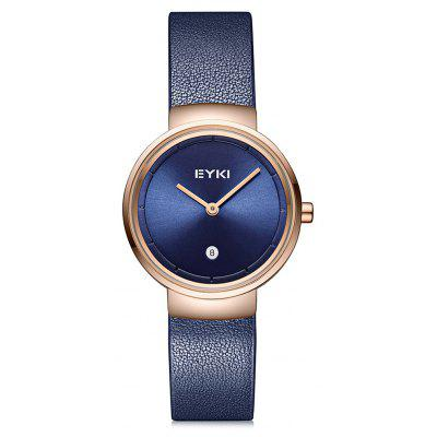 EYKI 1101 Women Trendy Leather Band Quartz Watch