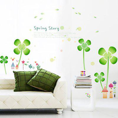 LAIMA QT0438 DIY Beautiful Clover Castle Wall Sticker