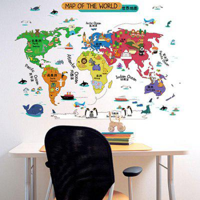 Laima cartoon world map wall sticker decorative decals 619 free laima cartoon world map wall sticker decorative decals gumiabroncs Images