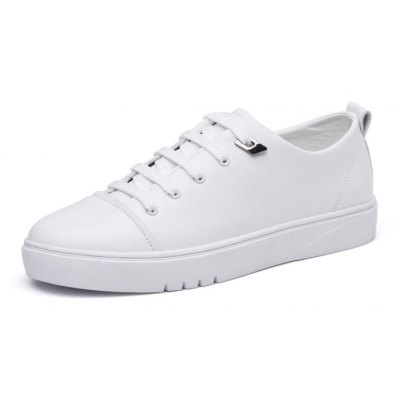 Male Versatile Soft Wearable Casual Skateboarding ShoesCasual Shoes<br>Male Versatile Soft Wearable Casual Skateboarding Shoes<br><br>Closure Type: Lace-Up<br>Features: Anti-slip, Water Resistant, Sweat-absorbing, Height Increasing, Durable, Breathable<br>Gender: Men<br>Highlights: Sweat Absorbing, Soft, Breathable<br>Package Contents: 1 x Pair of Shoes, 1 x Box<br>Package size: 30.00 x 18.00 x 12.00 cm / 11.81 x 7.09 x 4.72 inches<br>Package weight: 0.8000 kg<br>Product weight: 0.6500 kg<br>Season: Spring, Autumn<br>Sole Material: Rubber<br>Upper Height: Middle