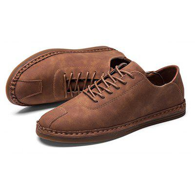 Male Nostalgic Soft Wearable Casual Flat Leather ShoesCasual Shoes<br>Male Nostalgic Soft Wearable Casual Flat Leather Shoes<br><br>Closure Type: Lace-Up<br>Contents: 1 x Pair of Shoes<br>Materials: Microfiber Leather, TPR<br>Occasion: Tea Party, Sports, Shopping, Riding, Party, Outdoor Clothing, Office, Holiday, Daily, Casual<br>Outsole Material: TPR<br>Package Size ( L x W x H ): 25.00 x 18.00 x 10.00 cm / 9.84 x 7.09 x 3.94 inches<br>Package Weights: 0.72kg<br>Pattern Type: Solid<br>Seasons: Autumn,Spring<br>Style: Modern, Leisure, Fashion, Comfortable, Casual<br>Toe Shape: Round Toe<br>Type: Casual Leather Shoes<br>Upper Material: Microfiber Leather