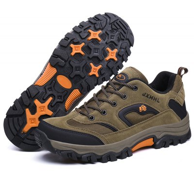 Men Breathable Split Joint Cushioning Athletic ShoesAthletic Shoes<br>Men Breathable Split Joint Cushioning Athletic Shoes<br><br>Closure Type: Lace-Up<br>Contents: 1 x Pair of Shoes<br>Materials: Mesh, Rubber, Leather<br>Occasion: Sports<br>Outsole Material: Rubber<br>Package Size ( L x W x H ): 33.00 x 22.00 x 11.00 cm / 12.99 x 8.66 x 4.33 inches<br>Package Weights: 0.9500kg<br>Product Weights: 0.8000kg<br>Seasons: Autumn,Spring,Winter<br>Style: Leisure, Comfortable<br>Toe Shape: Round Toe<br>Type: Sports Shoes<br>Upper Material: Leather,Mesh