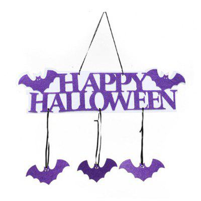 Buy PURPLE Halloween Decorative Door Window Hanging Pendant for $1.98 in GearBest store
