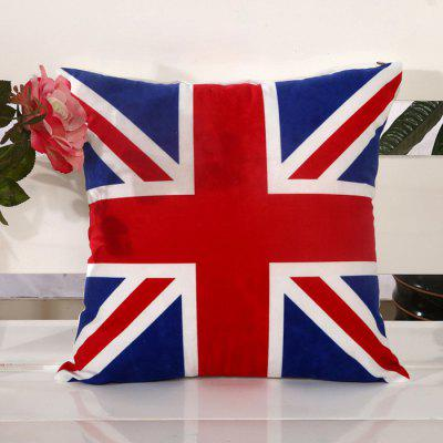 LAIMA BZ005 - 6 Flax Throw Pillow Case British Flag Pattern Square Decorative Pillowcase Cushion Cover