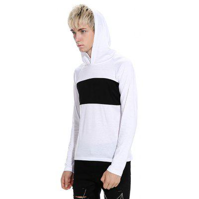 Casual Stitching Hooded T-shirtMens Long Sleeves Tees<br>Casual Stitching Hooded T-shirt<br><br>Material: Cotton, Polyester<br>Neckline: Hooded<br>Package Content: 1 x T-shirt<br>Package size: 32.00 x 40.00 x 1.00 cm / 12.6 x 15.75 x 0.39 inches<br>Package weight: 0.3600 kg<br>Product weight: 0.3400 kg<br>Season: Autumn<br>Sleeve Length: Long Sleeves<br>Style: Casual