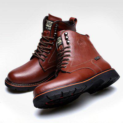 Men Casual Comfortable Stitching Leather Ankle Boots men