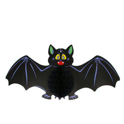 Halloween Ornaments Paper Bat Hanging PendantHalloween Supplies<br>Halloween Ornaments Paper Bat Hanging Pendant<br><br>Package Contents: 1 x Bat Pendant<br>Package size (L x W x H): 64.00 x 30.00 x 2.00 cm / 25.2 x 11.81 x 0.79 inches<br>Package weight: 0.0600 kg<br>Product size (L x W x H): 60.00 x 28.00 x 4.00 cm / 23.62 x 11.02 x 1.57 inches<br>Product weight: 0.0580 kg<br>Usage: Halloween, Party, Stage