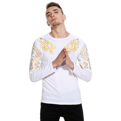 Printing Long Sleeve T-shirtMens Long Sleeves Tees<br>Printing Long Sleeve T-shirt<br><br>Material: Cotton, Polyester<br>Neckline: Round Neck<br>Package Content: 1 x T-shirt<br>Package size: 32.00 x 40.00 x 1.00 cm / 12.6 x 15.75 x 0.39 inches<br>Package weight: 0.2500 kg<br>Product weight: 0.2300 kg<br>Season: Autumn<br>Sleeve Length: Long Sleeves<br>Style: Casual