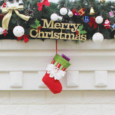 Adorable Santa Style Christmas Stocking Hanging Gift BagChristmas Supplies<br>Adorable Santa Style Christmas Stocking Hanging Gift Bag<br><br>For: All<br>Material: Nonwoven<br>Package Contents: 1 x Christmas Stocking<br>Package size (L x W x H): 14.00 x 20.00 x 2.00 cm / 5.51 x 7.87 x 0.79 inches<br>Package weight: 0.0250 kg<br>Product weight: 0.0230 kg<br>Usage: Christmas