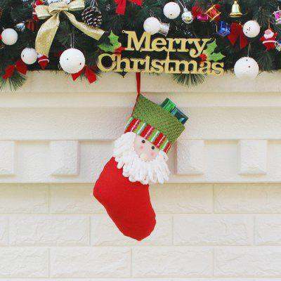 Creative Santa Style Christmas Stocking Handmade Gift BagChristmas Supplies<br>Creative Santa Style Christmas Stocking Handmade Gift Bag<br><br>For: All<br>Material: Nonwoven<br>Package Contents: 1 x Christmas Stocking<br>Package size (L x W x H): 21.00 x 34.00 x 2.00 cm / 8.27 x 13.39 x 0.79 inches<br>Package weight: 0.0600 kg<br>Product weight: 0.0400 kg<br>Usage: Christmas