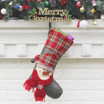 Handmade Snowman Christmas Stocking Plaid Border Gift BagChristmas Supplies<br>Handmade Snowman Christmas Stocking Plaid Border Gift Bag<br><br>For: All<br>Material: Nonwoven<br>Package Contents: 1 x Christmas Stocking<br>Package size (L x W x H): 27.00 x 47.00 x 2.00 cm / 10.63 x 18.5 x 0.79 inches<br>Package weight: 0.1200 kg<br>Product weight: 0.1000 kg<br>Usage: Christmas