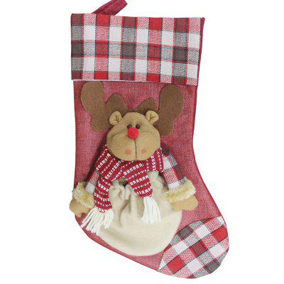 Decorative Hanging Sock Bear Pattern Stocking for Christmas