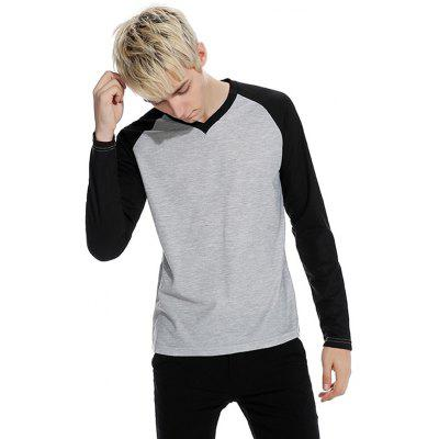 Men Joint Long Sleeve V Neck TeeMens Long Sleeves Tees<br>Men Joint Long Sleeve V Neck Tee<br><br>Neckline: V Neck<br>Package Content: 1 x Tee<br>Package size: 32.00 x 40.00 x 1.00 cm / 12.6 x 15.75 x 0.39 inches<br>Package weight: 0.2800 kg<br>Product weight: 0.2600 kg<br>Season: Autumn, Spring<br>Sleeve Length: Long Sleeves<br>Style: Casual