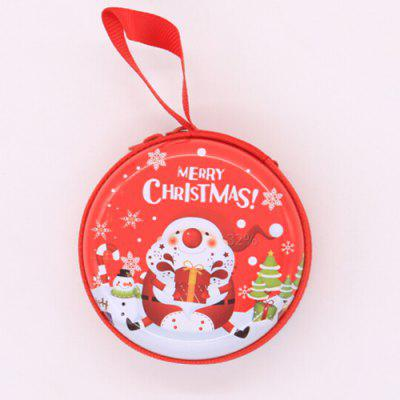 Buy RED Decorative Practical Gifts Round Storage Box for Christmas for $1.81 in GearBest store