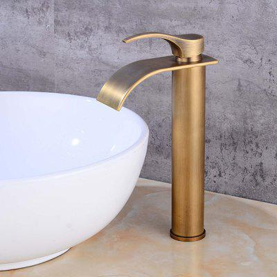 LING HAO HL - 309 Single Handle Waterfall Bathroom FaucetFaucets<br>LING HAO HL - 309 Single Handle Waterfall Bathroom Faucet<br><br>Battery Included: No<br>Body Sprays Included: No<br>Brand: LINGHAO<br>Drain Included: Yes<br>Faucet Body Material: Brass<br>Faucet center: Single Hole<br>Faucet Features: Easy Install,Easy to use,Eco Friendly<br>Faucet Spout Material: Brass<br>Faucet Type: Bathroom Sink Faucet<br>Handle Material: Zinc Alloy<br>Handshower Included: No<br>Home Finish: Oil-rubbed Copper<br>Installation Holes Handles: Single Handle One Hole<br>Installation Type: Centerset<br>Package Contents: 1 x Pack of Stationary Fittings, 2 x Water Inlet Pipe, 1 x English Manual, 1 x Downcomer<br>Package size (L x W x H): 38.00 x 22.00 x 8.00 cm / 14.96 x 8.66 x 3.15 inches<br>Package weight: 1.4000 kg<br>Product weight: 1.3000 kg<br>Rain Shower Included: No<br>Rain Shower Material: Brass<br>Shower Arm Included: No<br>Style: Contemporary<br>Valve Included: Yes<br>Valve Type: Brass Valve