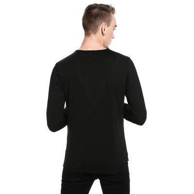 Simple Asymmetric T-shirtMens Long Sleeves Tees<br>Simple Asymmetric T-shirt<br><br>Material: Cotton, Polyester<br>Neckline: Round Neck<br>Package Content: 1 x T-shirt<br>Package size: 32.00 x 40.00 x 1.00 cm / 12.6 x 15.75 x 0.39 inches<br>Package weight: 0.3700 kg<br>Pattern Type: Solid<br>Product weight: 0.3500 kg<br>Season: Autumn<br>Sleeve Length: Long Sleeves<br>Style: Casual