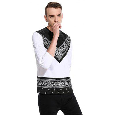 Fashion Printing Long Sleeve T-shirtMens Long Sleeves Tees<br>Fashion Printing Long Sleeve T-shirt<br><br>Material: Cotton, Polyester<br>Neckline: Round Neck<br>Package Content: 1 x T-shirt<br>Package size: 32.00 x 40.00 x 1.00 cm / 12.6 x 15.75 x 0.39 inches<br>Package weight: 0.2800 kg<br>Product weight: 0.2600 kg<br>Season: Autumn<br>Sleeve Length: Long Sleeves<br>Style: Casual