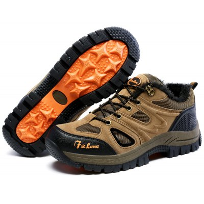 Men Thermal Outdoor Slip Resistant Suede Athletic ShoesAthletic Shoes<br>Men Thermal Outdoor Slip Resistant Suede Athletic Shoes<br><br>Closure Type: Lace-Up<br>Contents: 1 x Pair of Shoes<br>Function: Slip Resistant, Puncture Resistant<br>Lining Material: Short Plush<br>Materials: Short Plush, Suede, Rubber<br>Occasion: Casual, Sports<br>Outsole Material: Rubber<br>Package Size ( L x W x H ): 33.00 x 22.00 x 11.00 cm / 12.99 x 8.66 x 4.33 inches<br>Package Weights: 1.0000kg<br>Product Weights: 0.8500kg<br>Seasons: Winter<br>Style: Leisure, Comfortable<br>Toe Shape: Round Toe<br>Type: Hiking Shoes<br>Upper Material: Suede