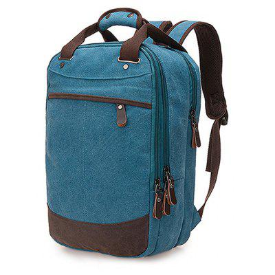 Men Vintage Durable Leather-trimmed Canvas BackpackBackpacks<br>Men Vintage Durable Leather-trimmed Canvas Backpack<br><br>Features: Wearable<br>Gender: Men<br>Material: Polyester, Canvas<br>Package Size(L x W x H): 42.00 x 27.00 x 5.00 cm / 16.54 x 10.63 x 1.97 inches<br>Package weight: 0.6800 kg<br>Packing List: 1 x Backpack<br>Product weight: 0.6500 kg<br>Style: Fashion, Casual<br>Type: Backpacks