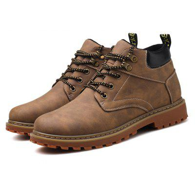 Men High-quality Leisure Leather Slip Resistant Boots
