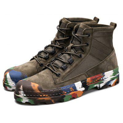 Men Trendy Individual Colorful Outsoles Suede Ankle Boots