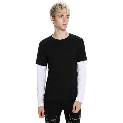 Joint Long Sleeves Round Collar Tee for MenMens Long Sleeves Tees<br>Joint Long Sleeves Round Collar Tee for Men<br><br>Neckline: Round Collar<br>Package Content: 1 x Tee<br>Package size: 32.00 x 40.00 x 1.00 cm / 12.6 x 15.75 x 0.39 inches<br>Package weight: 0.2900 kg<br>Product weight: 0.2700 kg<br>Season: Autumn, Spring<br>Sleeve Length: Long Sleeves