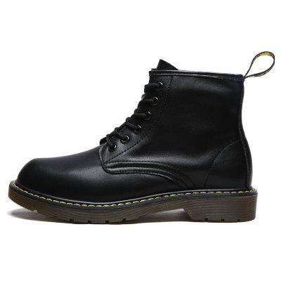 Men Cool Retro Lustrascarpe colore Marten BootsMens Boots<br>Men Cool Retro Lustrascarpe colore Marten Boots<br><br>Closure Type: Lace-Up<br>Contents: 1 x Pair of Shoes, 1 x Box<br>Function: Slip Resistant, Puncture Resistant<br>Materials: Rubber, Leather<br>Occasion: Casual, Daily, Holiday<br>Outsole Material: Rubber<br>Package Size ( L x W x H ): 33.00 x 24.00 x 13.00 cm / 12.99 x 9.45 x 5.12 inches<br>Package Weights: 1.1000kg<br>Product Weights: 0.9000kg<br>Seasons: Autumn,Spring,Winter<br>Style: Leisure, Casual, Fashion<br>Toe Shape: Round Toe<br>Type: Boots<br>Upper Material: Leather