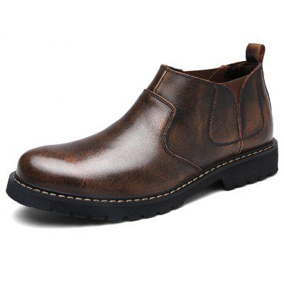 Simple Keep Warm Genuine Leather Boots for MenMens Boots<br>Simple Keep Warm Genuine Leather Boots for Men<br><br>Closure Type: Elastic band<br>Contents: 1 x Pair of Boots<br>Function: Slip Resistant<br>Materials: Rubber, Genuine Leather<br>Occasion: Casual, Daily<br>Outsole Material: Rubber<br>Package Size ( L x W x H ): 33.00 x 22.00 x 11.00 cm / 12.99 x 8.66 x 4.33 inches<br>Package Weights: 1.05kg<br>Pattern Type: Solid<br>Seasons: Autumn,Winter<br>Style: Comfortable, Casual<br>Type: Boots<br>Upper Material: Genuine Leather