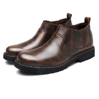 Simple Keep Warm Genuine Leather Boots for Men