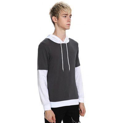 Casual Simple Hoodie Hooded T-shirtMens Long Sleeves Tees<br>Casual Simple Hoodie Hooded T-shirt<br><br>Material: Cotton, Polyester<br>Neckline: Hooded<br>Package Content: 1 x T-shirt<br>Package size: 32.00 x 40.00 x 1.00 cm / 12.6 x 15.75 x 0.39 inches<br>Package weight: 0.3500 kg<br>Product weight: 0.3300 kg<br>Season: Autumn<br>Sleeve Length: Long Sleeves<br>Style: Casual