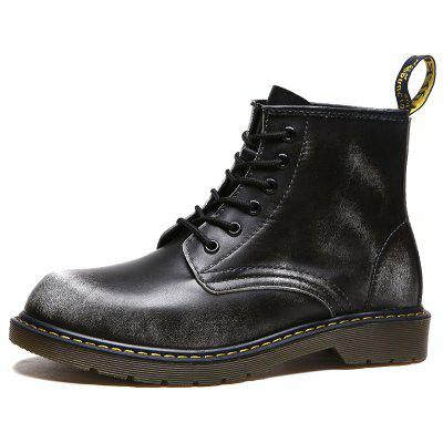 Men Cool Retro Lustrascarpe colore Marten Boots