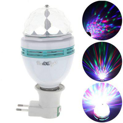 Youoklight AC 85 - 265V Automatic Rotating 3W RGB Bulb with E27 Adapter