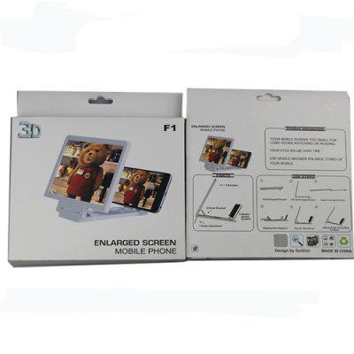 Folding Mobile Phone Video Screen Enlarged Stand HolderOther Cell Phone Accessories<br>Folding Mobile Phone Video Screen Enlarged Stand Holder<br><br>Package Contents: 1 x Phone Screen Enlarged Stand<br>Package size (L x W x H): 20.50 x 12.50 x 3.00 cm / 8.07 x 4.92 x 1.18 inches<br>Package weight: 0.1100 kg<br>Product size (L x W x H): 16.50 x 10.50 x 2.00 cm / 6.5 x 4.13 x 0.79 inches<br>Product weight: 0.0750 kg