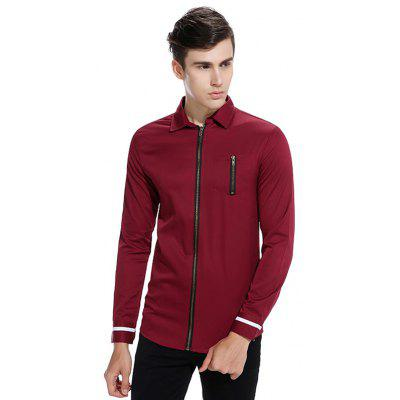 Long Sleeve Solid Color ShirtMens Shirts<br>Long Sleeve Solid Color Shirt<br><br>Closure Type: Zipper<br>Material: Cotton, Polyester<br>Package Contents: 1 x Shirt<br>Package size: 32.00 x 40.00 x 1.00 cm / 12.6 x 15.75 x 0.39 inches<br>Package weight: 0.3500 kg<br>Pattern: Solid Color<br>Product weight: 0.3300 kg<br>Style: Casual