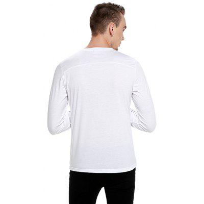 Simple Classic Round Collar T-shirtMens Long Sleeves Tees<br>Simple Classic Round Collar T-shirt<br><br>Material: Cotton, Polyester<br>Neckline: Round Neck<br>Package Content: 1 x T-shirt<br>Package size: 32.00 x 40.00 x 1.00 cm / 12.6 x 15.75 x 0.39 inches<br>Package weight: 0.2800 kg<br>Product weight: 0.2600 kg<br>Season: Autumn<br>Sleeve Length: Long Sleeves<br>Style: Casual