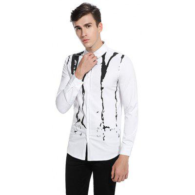 Stylish Printing ShirtMens Shirts<br>Stylish Printing Shirt<br><br>Closure Type: Button<br>Material: Cotton, Polyester<br>Package Contents: 1 x Shirt<br>Package size: 32.00 x 40.00 x 1.00 cm / 12.6 x 15.75 x 0.39 inches<br>Package weight: 0.3200 kg<br>Product weight: 0.3000 kg<br>Thickness: Regular