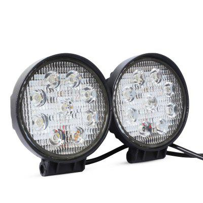Waterproof Car LED Round Floodlight Work Lamp 10 - 30V 2pcsCar Lights<br>Waterproof Car LED Round Floodlight Work Lamp 10 - 30V 2pcs<br><br>Apply lamp position: External Lights<br>Apply To Car Brand: Universal<br>Color temperatures: 6500K<br>Connector: Cable Connector<br>Feature: Floodlight, Waterproof/Dustproof<br>LED/Bulb quantity: 9<br>Lumens: 2150lm<br>Material: Aluminum Alloy<br>Package Contents: 2 x Car Work Light, 2 x Bag of Accessory<br>Package size (L x W x H): 14.00 x 11.80 x 12.50 cm / 5.51 x 4.65 x 4.92 inches<br>Package weight: 0.8400 kg<br>Power: 27W<br>Product weight: 0.6592 kg<br>Type: Work Light, Floodlight<br>Type of lamp-house: LED<br>Voltage: 10V-30V