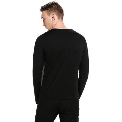 Simple Round Collar T-shirtMens Long Sleeves Tees<br>Simple Round Collar T-shirt<br><br>Material: Cotton, Polyester<br>Neckline: Round Neck<br>Package Content: 1 x T-shirt<br>Package size: 32.00 x 40.00 x 1.00 cm / 12.6 x 15.75 x 0.39 inches<br>Package weight: 0.2800 kg<br>Product weight: 0.2600 kg<br>Season: Autumn<br>Sleeve Length: Long Sleeves<br>Style: Casual