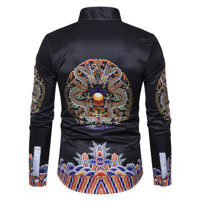 Chinese Style Dragon Printing ShirtMens Shirts<br>Chinese Style Dragon Printing Shirt<br><br>Closure Type: Button<br>Material: Cotton, Polyester<br>Package Contents: 1 x Shirt<br>Package size: 40.00 x 30.00 x 4.00 cm / 15.75 x 11.81 x 1.57 inches<br>Package weight: 0.3200 kg<br>Product weight: 0.3000 kg<br>Thickness: Regular