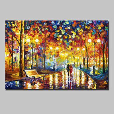 Buy COLORMIX Mintura Unframed Oil Painting Rain Streetscape Wall Art for $75.41 in GearBest store