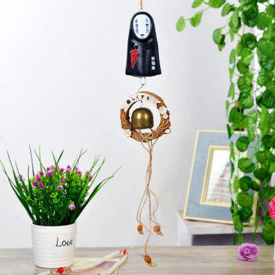 Buy BLACK A Cartoon Design Wind Chime Hanging Decoration for $13.45 in GearBest store