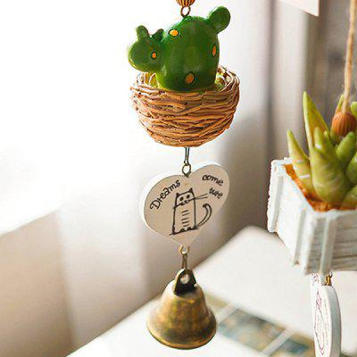 Buy GREEN Plant Design Wind Chime Hanging Decoration for $12.27 in GearBest store
