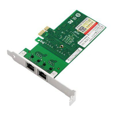 PCI-E X1 Dual Port Gigabit Ethernet Network CardPCI Cards<br>PCI-E X1 Dual Port Gigabit Ethernet Network Card<br><br>Material: Plastic, Stainless Steel<br>Package Contents: 1 x Raid Card<br>Package size (L x W x H): 13.50 x 6.50 x 3.00 cm / 5.31 x 2.56 x 1.18 inches<br>Package weight: 0.0950 kg<br>Product size (L x W x H): 12.50 x 5.50 x 1.90 cm / 4.92 x 2.17 x 0.75 inches<br>Product weight: 0.0850 kg