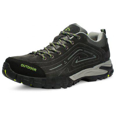 N-DENG Outdoor Leather Slip Resistant Athletic Shoes