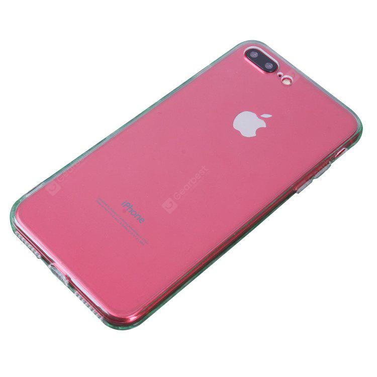 Slim TPU PC Phone Case para iPhone 7 Plus Dust Plug Cover